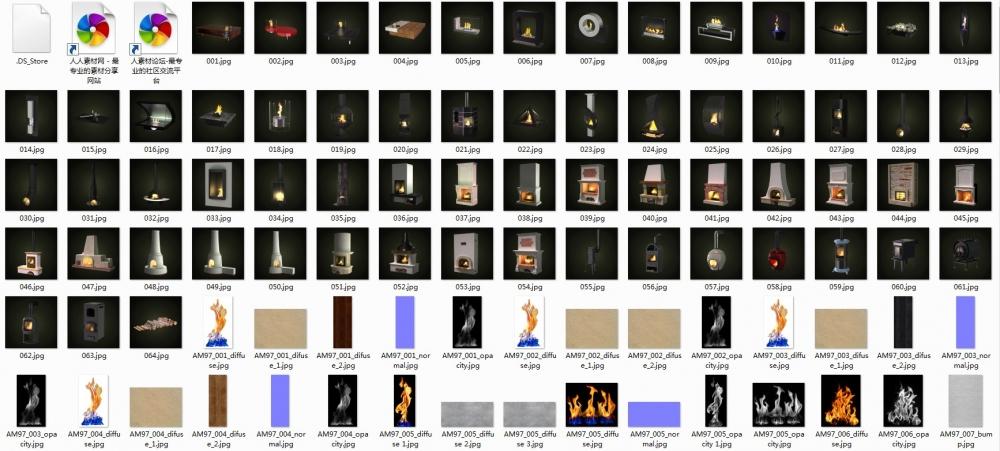 《精品建筑室内装饰3D壁炉设备模型》Evermotion Archmodels vol. 97