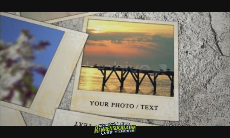 《美丽的照片相册 AE包装模板》Videohive wall and photos 80285