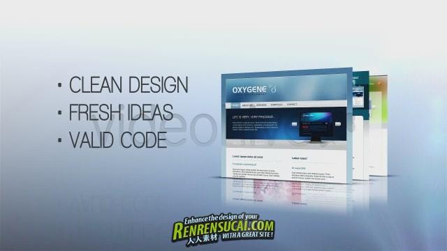 《简介网页展示 AE包装模板》Videohive clean web intro 156571