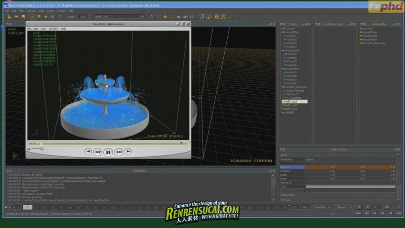 《RealFlow粒子动力学高级训练教程》FXPHD RFL201 Particles and Dynamics using RealFlow
