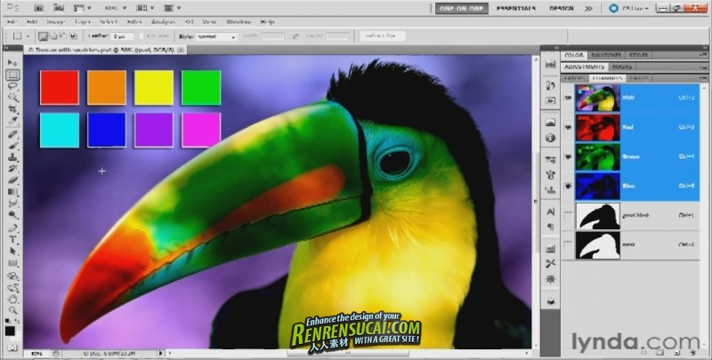 《Photoshop遮罩与合成技术高级教程》Lynda.com Photoshop Masking & Compositing: Fundamentals