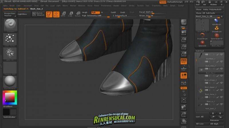 《ZBrush4女英雄形象纹理雕刻高级教程》Digital-Tutors Texturing a Female Hero in ZBrush 4