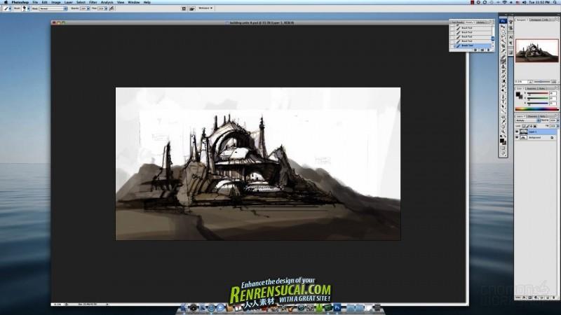 《游戏场景绘制高级手绘教程》Gnomon WorkShop Environment Art Direction for Games Volume 2: Painting Concepts with Cecil Kim