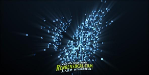 《数字字幕拼图Logo板式 AE片头包装模板》Videohive digital reveal 166492 For Project After Effects