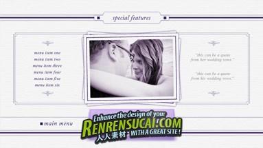 《浪漫真爱 DVD设计板式09 AE模板》Pro Motion Menu Kit 09