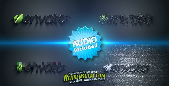 《扭曲闪烁电视花板式 AE片头包装模板》Videohive Distorted Logo Sting 251558 Project For After Effects
