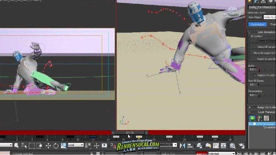 《3dsMax2012角色动画工具与套索剥皮技术制作流程高级教程》Digital Tutors Creative Development: Rigging and Animation Workflows Using CAT in 3ds Max