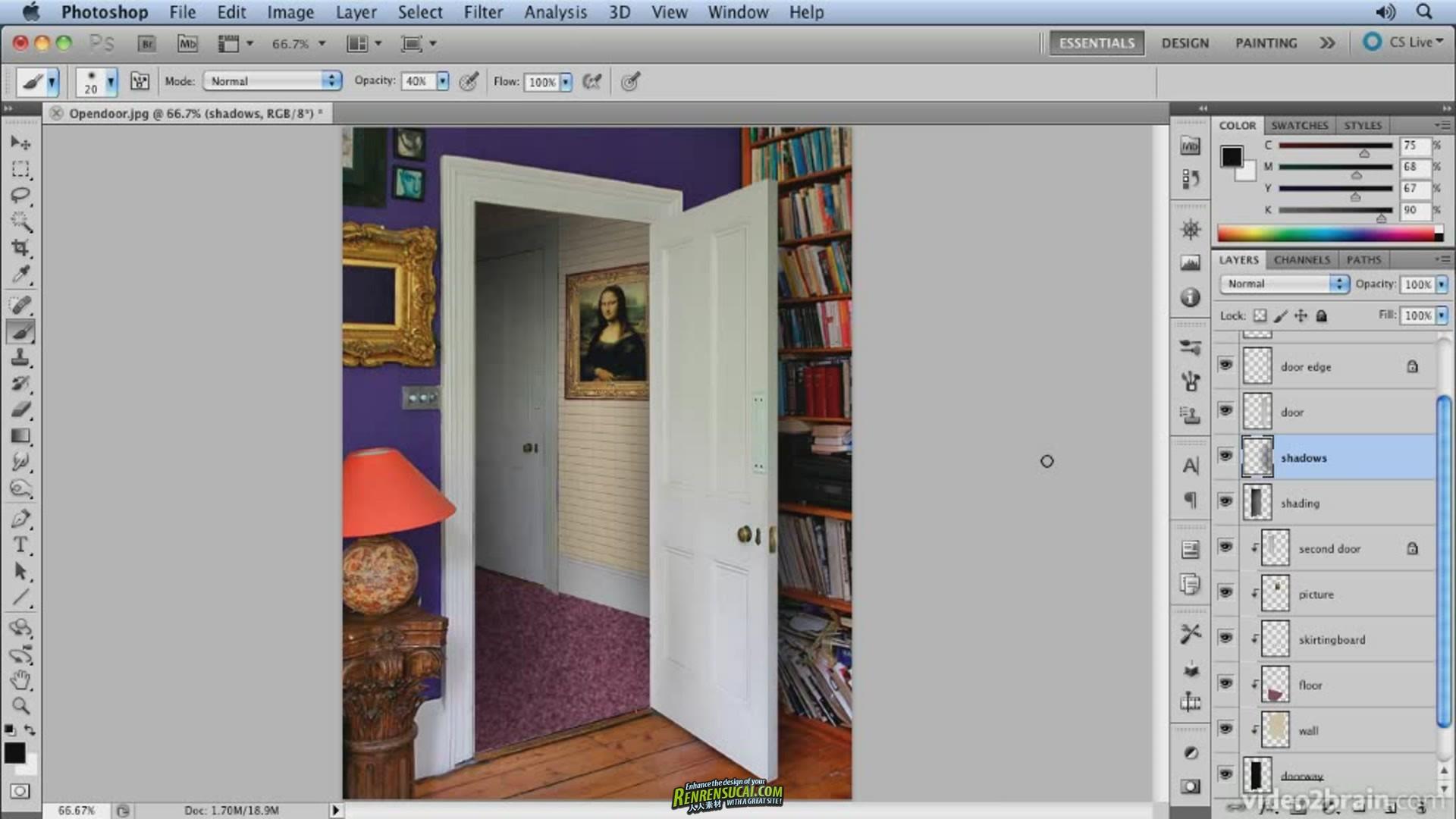 《Photoshop透视图层秘密高级教程》video2brain Creating Perspective in Photoshop 2011
