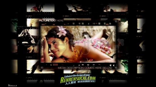 《华丽胶片特写板式 AE片头包装模板》Videohive closeup 381304