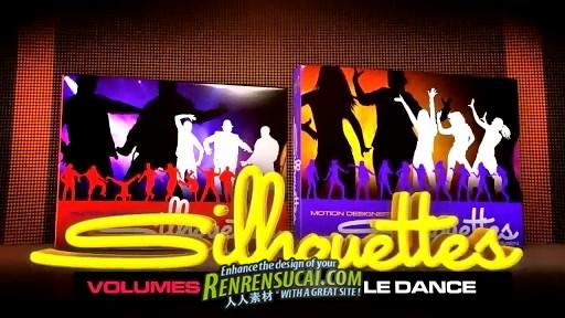 《DJ舞蹈剪影-女性 视频素材合辑》Digital Juice Motion Designers Silhouettes Freestyle Dance Women