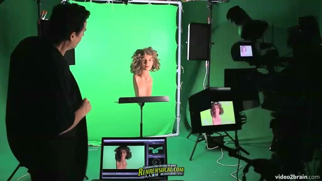 《绿屏拍摄虚拟场景合成影片高级教程》video2brain Green Screen Workshop The Shoot