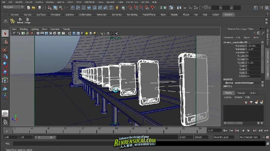 《Maya手机iphone工业设计高级教程》Digital-Tutors Creative Development Guerrilla Commercial Design Concept in Maya