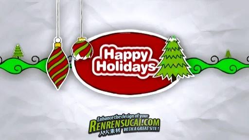 《DJ圣诞涂鸦运动设计元素 AE包装模板与视频素材合辑》Digital Juice Christmas Doodles Motion Design Elements