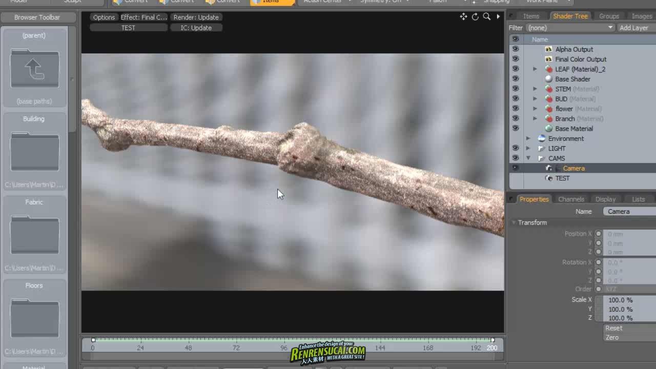 《Maya与Modo制作逼真植物渲染动画高级教程》Digital-Tutors Creative Development Photorealistic Time Lapse Animation and Rendering in Maya and modo