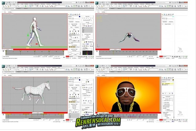 《3dsMax2012人物角色动画应用技术教程》Elephorm Animation 3D characters with 3ds Max 2012 DVD French
