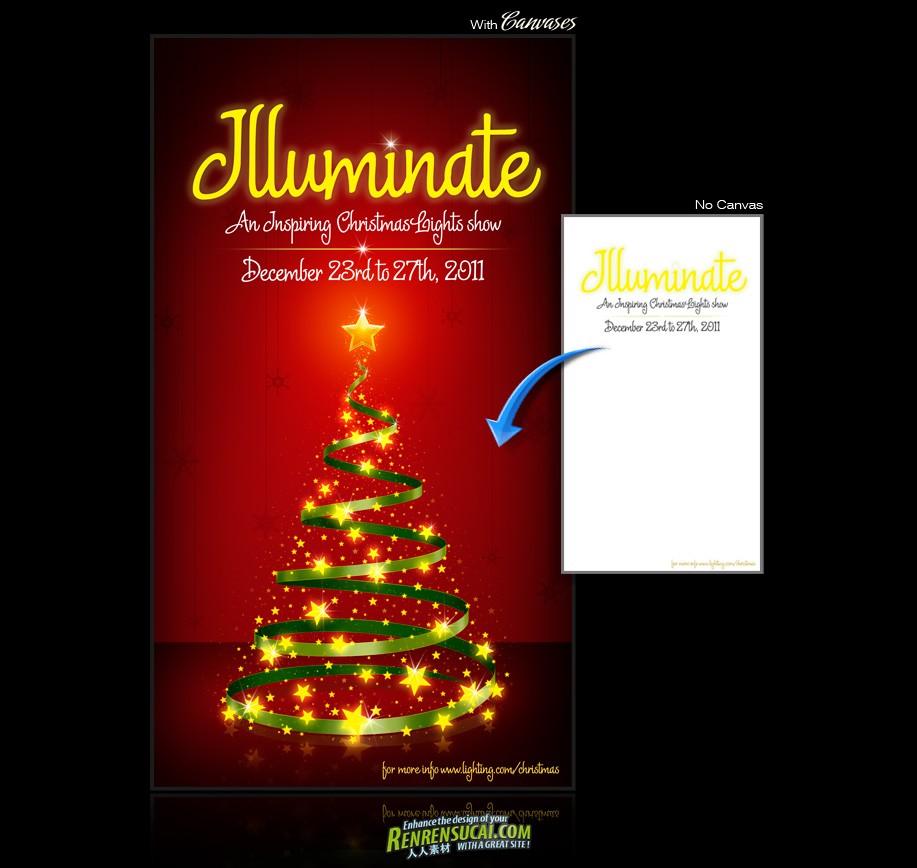 《DJ圣诞背景画布合辑1》Digital Juice Christmas Canvases