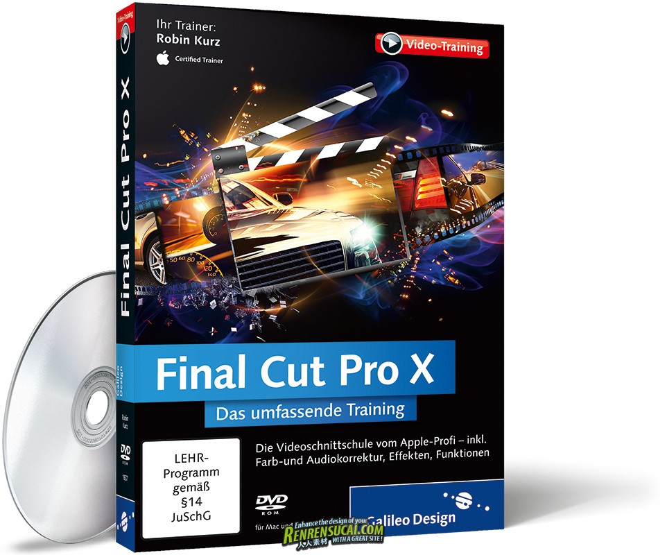 《Final Cut Pro X高效非编剪辑技巧教程》Galileo Design Final Cut Pro X The Global Management Training German