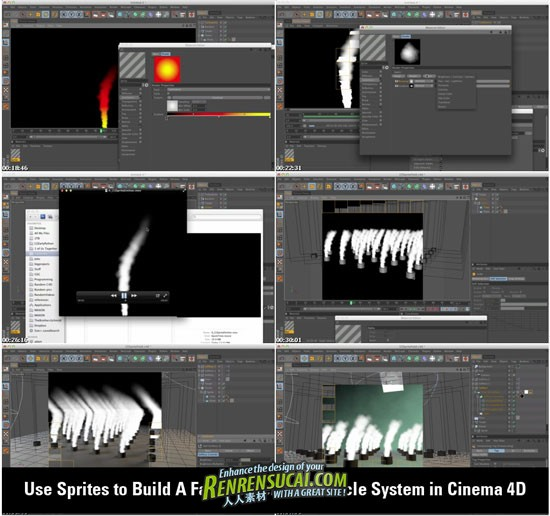 《Cinema 4D粒子系统高级教程》Greyscalegorilla Use Sprites to Build A Fast-To-Render Particle System in Cinema 4D