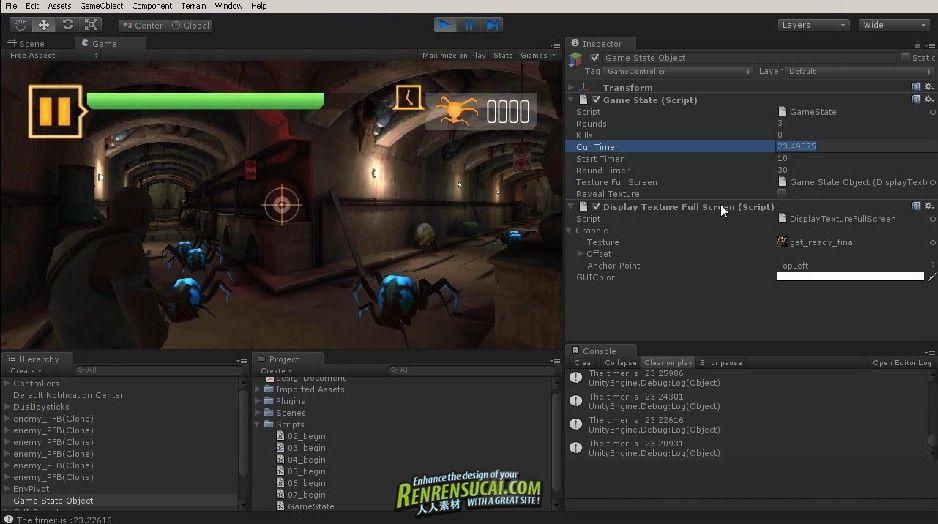 《Unity手机游戏开发系列:游戏状态栏制作教程》Digital-Tutors Unity Mobile Game Development Game State