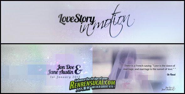 《动感爱情故事 AE包装模板》Videohive love story in motion 1258822 After Effects Project