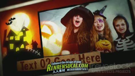 《怪趣儿童回忆 AE包装模板》Revostock Kids Halloween 181257 After Effects Project
