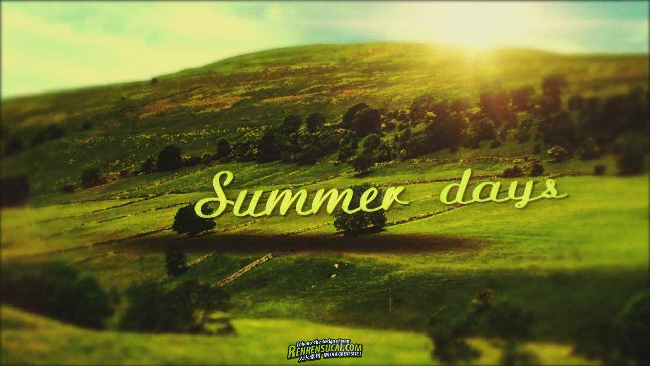 《美丽夏日 AE包装模板》Videohive Summer days