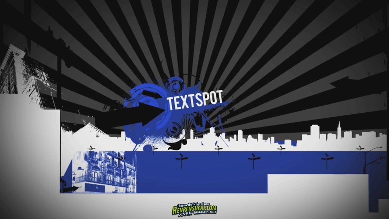 《城市天际线 AE包装模板》DropDrop Urban SkyLine After Effects Project