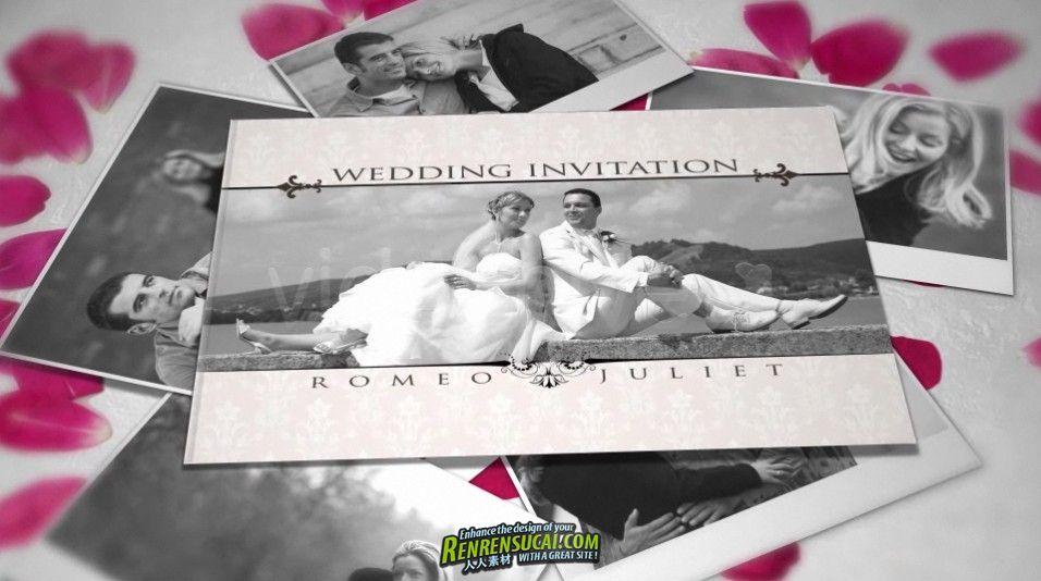 《浪漫婚礼请柬 AE包装模板》Videohive wedding invitation 755943