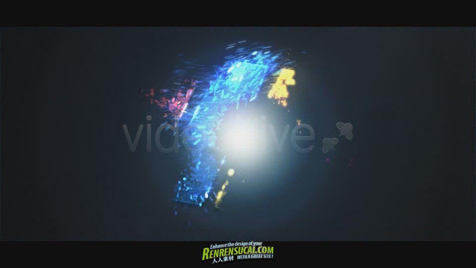 《粒子变化标识 AE包装模板》Videohive Particle Burst Logo Reveal 1523651 After Effects Project