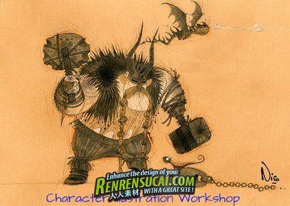 《游戏动画人物插画教程》CGMW Character Illustration Workshop