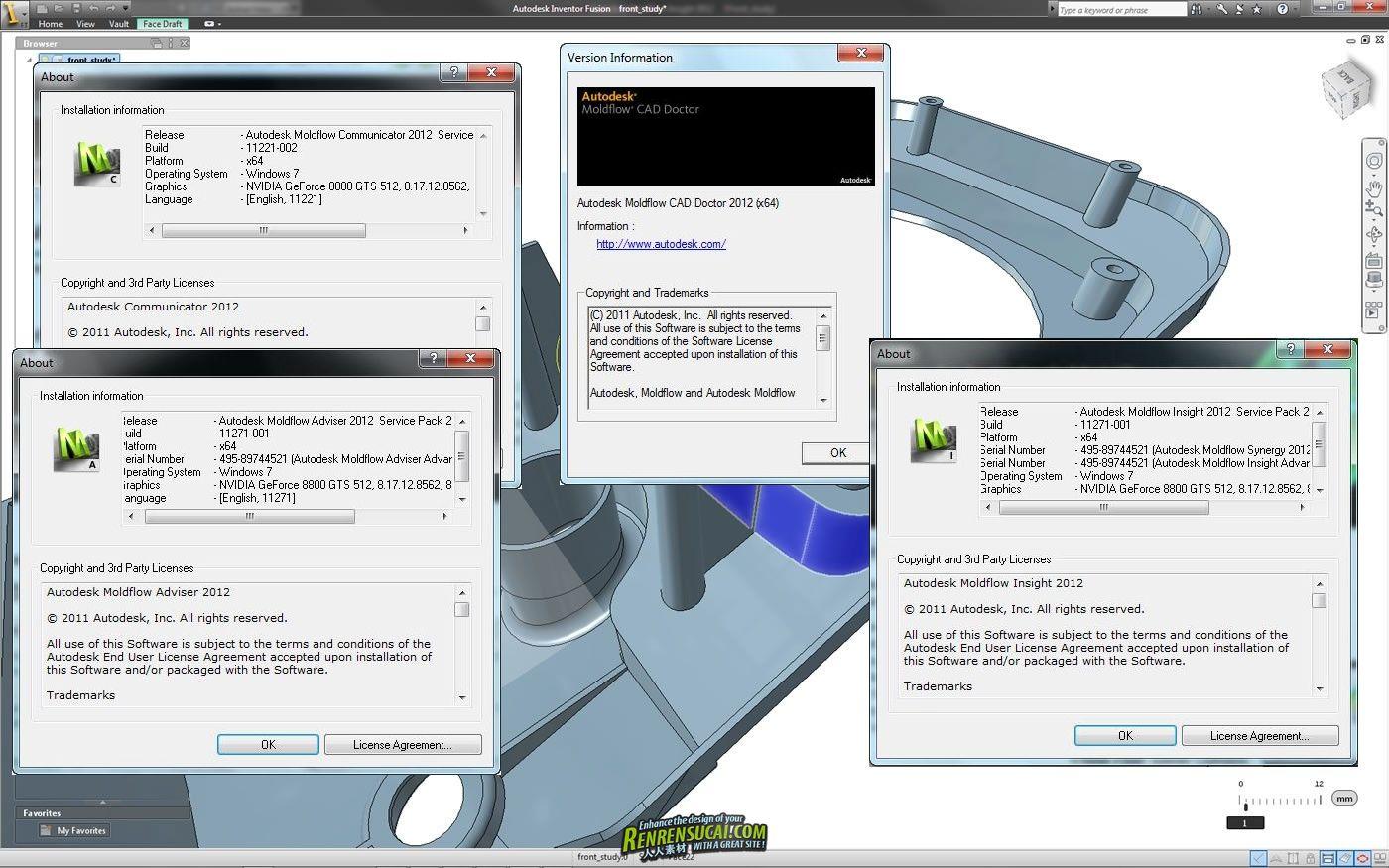 《注塑成型仿真分析Moldflow 2012 SP2破解版》Autodesk Moldflow 2012 SP2 32bit & 64bit Upgrade