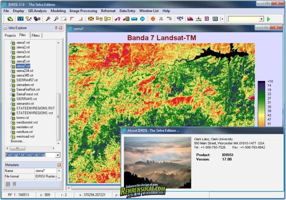 《全球土地变化模块破解版》IDRISI Selva 17.00