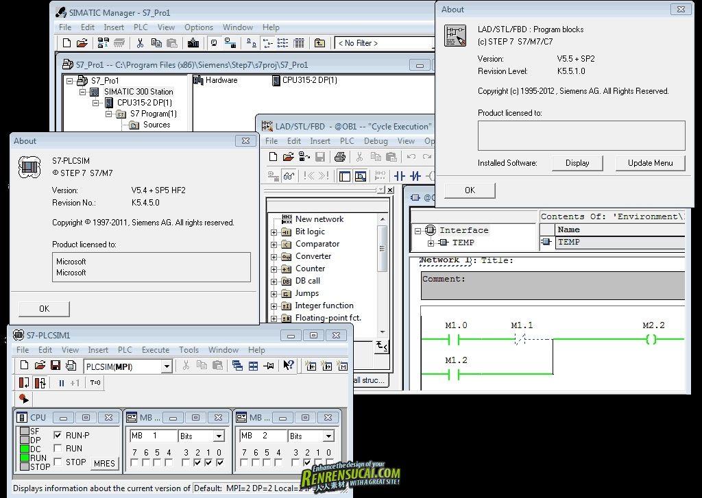 《西门子工控编程软件V7 5.5 SP2破解版32/64位win》Siemens Simatic Step7 5.5 SP2 32bit & 64bit