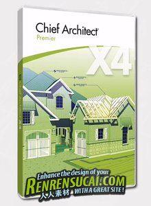 《首席架构师设计软件Chief Architect Premier X4破解版》Chief Architect Premier X4 14.3