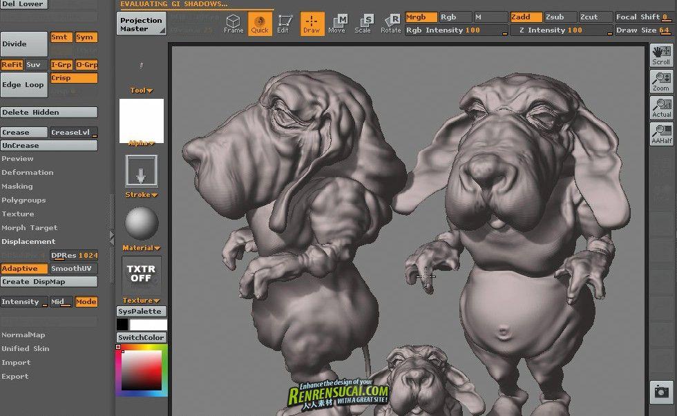 《Zbrush工作流程教程》Zbrush Production Pipeline: Zbrush and External 3D Programs