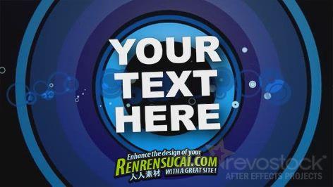 《蓝色环形字幕 AE模板》Revostock Blue Rings With Text 82811 After Effects Project