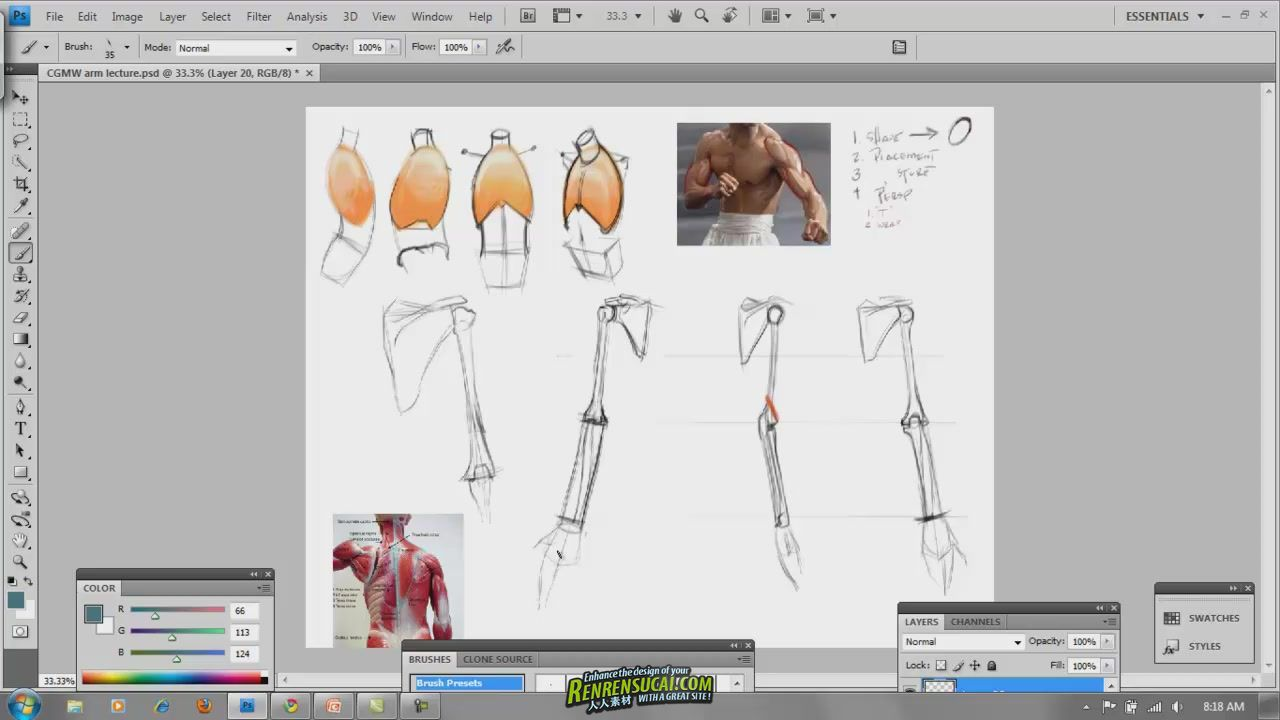 《人体绘画基础大师班教程》CGMA Master Class Analytical Figure Drawing 1