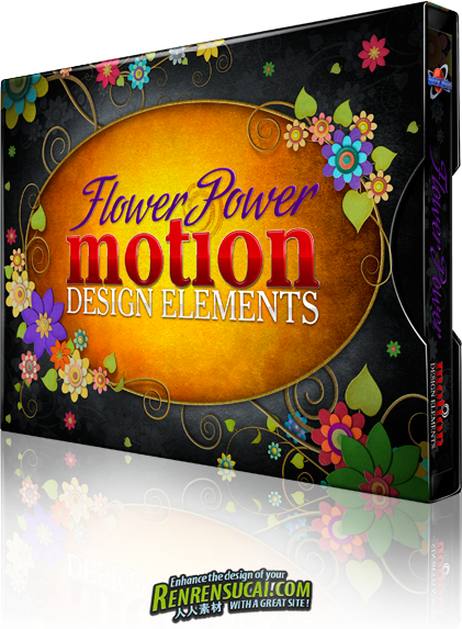 《DJ生长花纹视频素材合辑》Digital Juice Flower Power Motion Design Elements