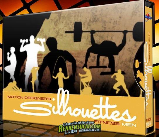 《DJ体育运动剪影视频素材-健身男士》Digital Juice Motion Designer's Silhouettes Fitness Men