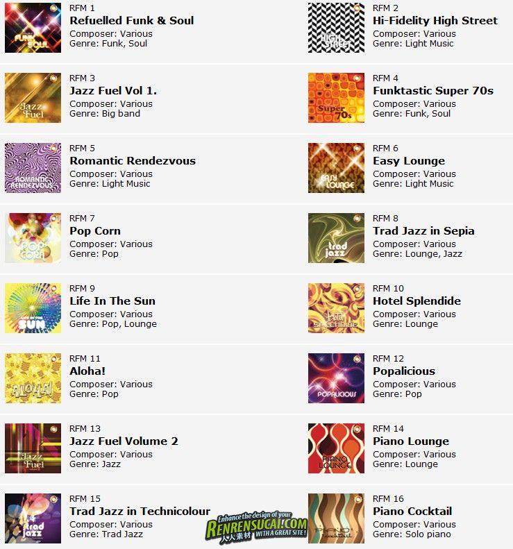 《国外经典配乐WOM独特系列Refuel Music22部合辑》West One Music Collection Refuel Music volumes 01 - 22