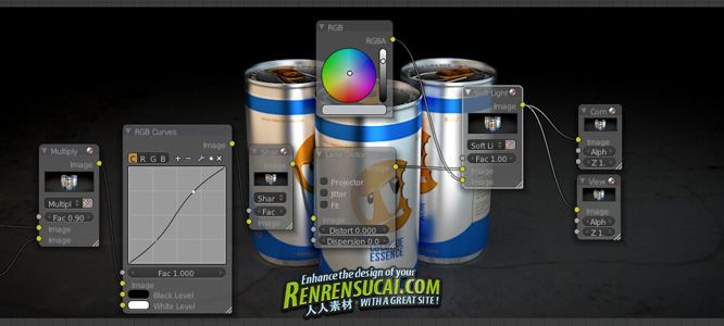 《Blender制作广告饮料瓶教程》CGCookie Rendering a Drink Can in Blender with Cycles Exclusive