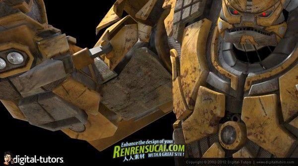 《Maya变形机器人制作之照明与渲染教程》Digital-Tutors Transforming Robot Production Pipeline Volume 9 Lighting and Rendering