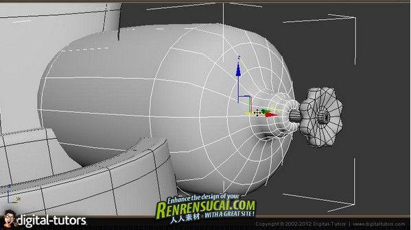 《3dsmax2012中Polygon建模与细分表面建模流程教程》Digital-Tutors Polygon and Sub-D Modeling Workflows in 3ds Max 2012