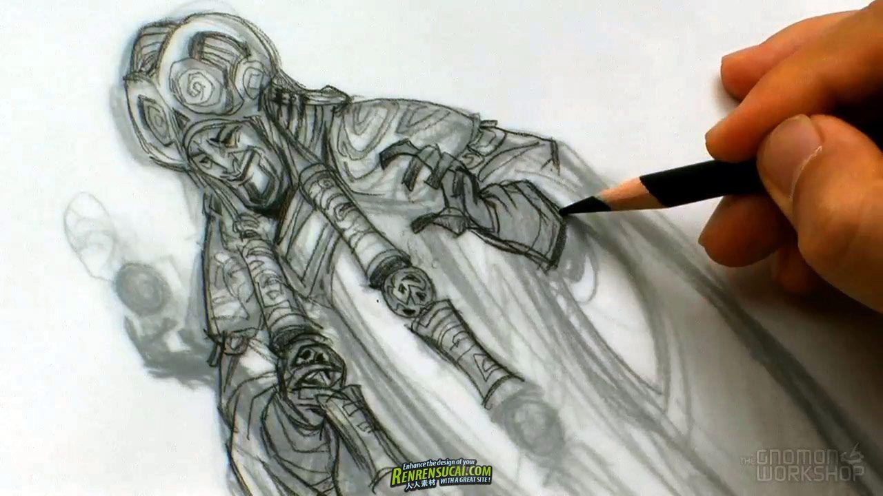 《生物与角色概念草绘教程》The Gnomon Workshop Creature and Character Design Concept Sketching with Sang Jun Lee