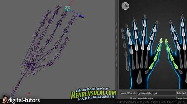 《Maya中高级人体IK教程》Digital-Tutors Creative Development Advanced HumanIK in Maya