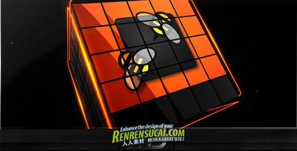 《立体质感Logo AE模板》Videohive cubes logo reveal pack 475180 After Effects Project