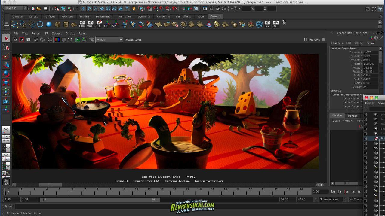 《高效剧场照明技术教程》The Gnomon Workshop Efficient Cinematic Lighting with Jeremy Vickery