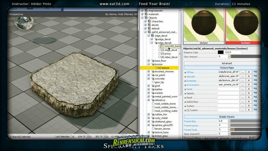 《CryEngine3材质制作教程3》Eat3D CryENGINE 3 Materials Vol 3 An Introduction and Application