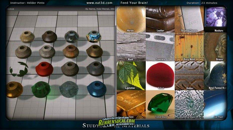 《CryEngine3材质制作教程1》Eat3D CryENGINE 3 Materials Vol 1 An Introduction and Application