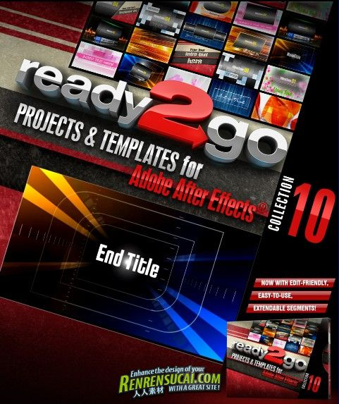 《DJ最强AE模板合辑Vol.10》Digital Juice Ready2Go Collection 10 for After Effects